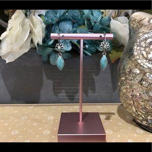 ✨4/$40✨ Fossil Turquoise Flower Glitz Earrings